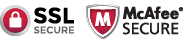 VeriSign and McAfee Secure